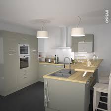 cuisine blanche plan travail bois lovely cuisine blanc laque plan travail bois 3 cuisine