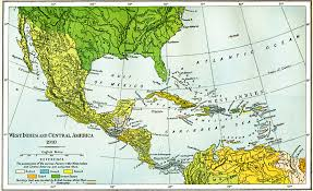 To Dominion Of Canada Mexico Central America West Political Map And The Caribbean Indies 1763