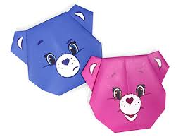 Care Bears Cheer Bear Origami Activity