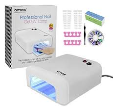 amos professional uv l nail dryer light 36w gel shellac art