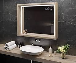 artforma spiegel mit led beleuchtung 90x70 cm mit ablage und