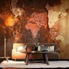 details zu vlies fototapete weltkarte rost braun welt map wohnzimmer tapete wandbilder