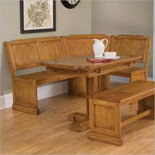 Corner Kitchen Table Set With Storage by Kitchen Table With Bench Set Trestle Farmhouse Tablebench Set