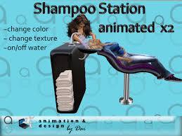 second life marketplace salon shoo sink station animated