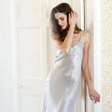 silk satin slip dress by silk u0026 grey notonthehighstreet com