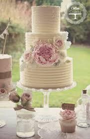 Rustic Wedding Cake By Cotton Crumbs Peonies