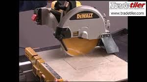 Dewalt Tile Saws Home Depot by Dewalt D24000 Electric Tile Cutter Tradetiler Youtube