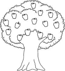 Excellent Apple Tree Coloring Page Pages
