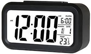 kedelak intelligenter digitaler wecker mit datums und temperatur schlummertaste oben batteriebetriebene rechteckige schreibtischuhr mit nachtlicht