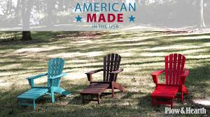 Adirondack Chairs Ace Hardware by Polywood Adirondack Chair With Hideaway Ottoman Sku 62c43 Plow