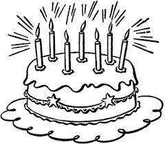 Birthday Cake Clip Art Black And White clipartsgram