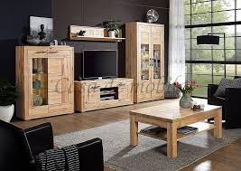 wohnzimmer 5teilig rustic wildeiche geölt sandgestrahlte elemente casade mobila