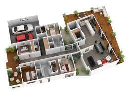 Ground Floor 3d With Awesome D Houses New Cheap Home Design Plans