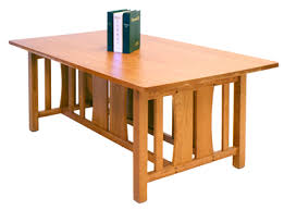 Contemporary Mission Style Dining Room Table Available In 3 Sizes Made Vermont