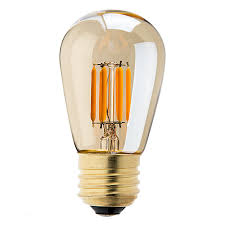 led vintage light bulb s14 led sign bulb w gold tint 25 watt