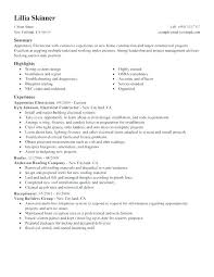 Electrician Resume Sample Master Assistant Director