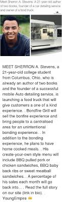 100 Food Truck Books Meet Sherron A Stevens A 21YearOld Author Of Two Founder Of