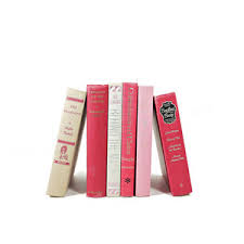 PRETTY PINK VIntage Decorative BooksWedding Table SettingsHome Decor