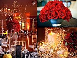 Red And Gold Decorations Wedding Decoration White Christmas