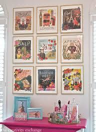 DIY Framed Calendar Prints Travel Room DecorVintage