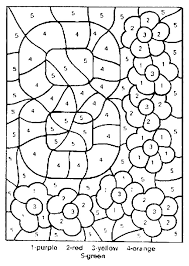 Elegant Coloring Pages Of Numbers 54 In For Adults With