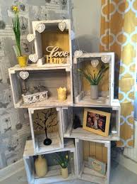 Wooden Crate Ideas Shelves Best Wood On Crates Milk