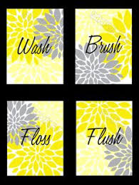 Yellow Gray Bathroom Art by Abstract Mustard Yellow And Gray Floral By Rhondavousdesigns2