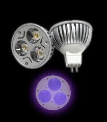 ultra violet led blacklight bulb with 12v mr16 base