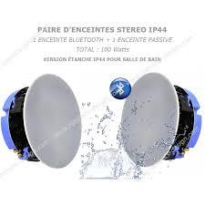 paire enceintes etanche ip44 spéciale salle de bain à encastrer au