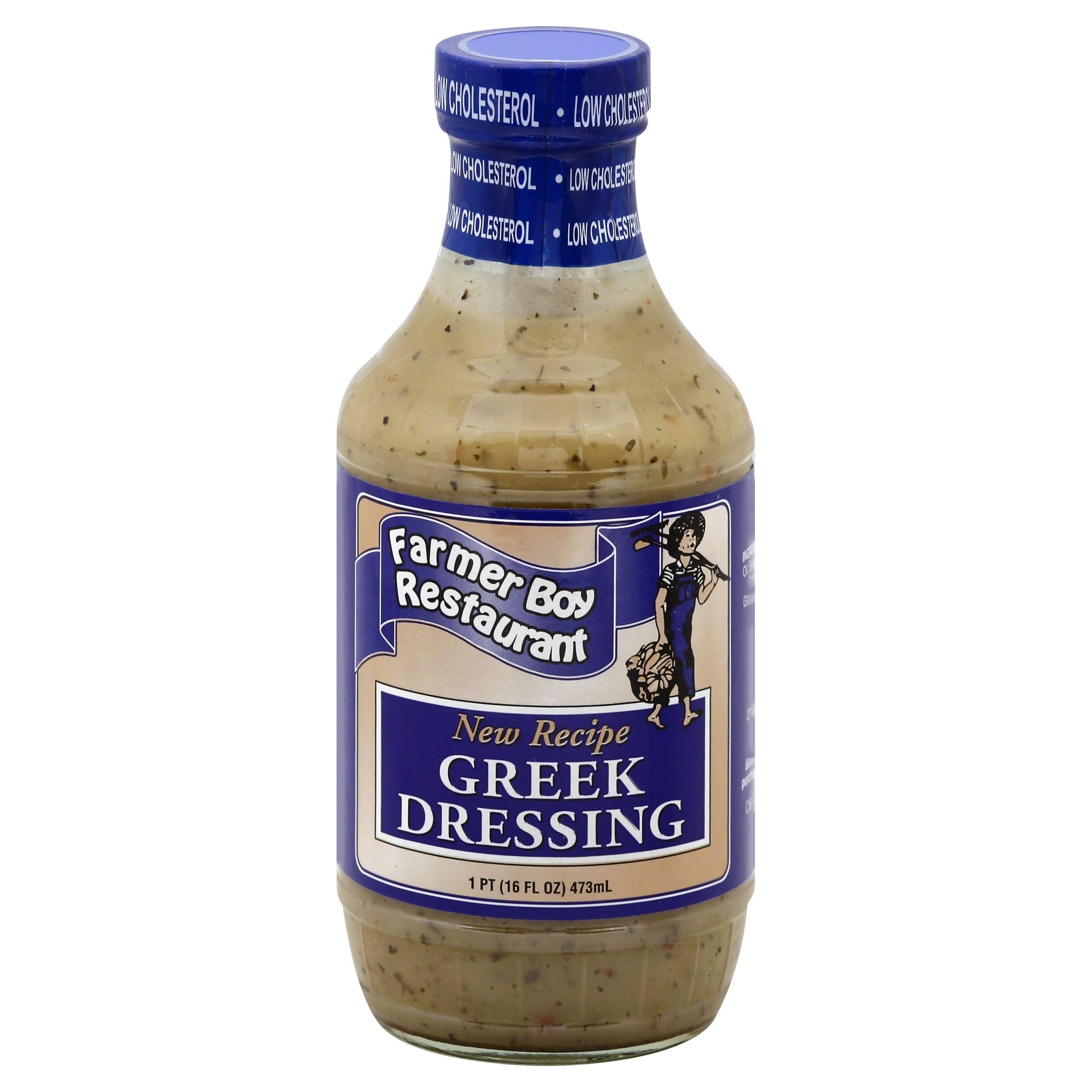 Farmer Boy Restaurant House Recipe Greek Dressing - 16oz
