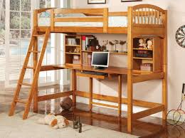 amazon com coaster bunk bed and workstation in warm brown finish
