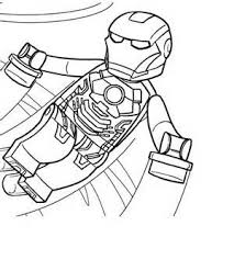 Lego Iron Man Coloring Pages 4 Printable