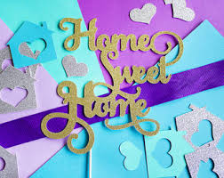 Home Sweet Cake Topper Housewarming Party Decor Welcome House Warming New