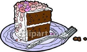 A Piece of Chocolate Cake Royalty Free Clipart Picture