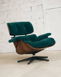 Charles Eames, Lounge Chair, Fauteuil Charles Eames, Velours Vert ... Vitra Eames Lounge Chair Fauteuil De Salon Twill Jean Prouv On Plycom Utility Design Uk Repos Grand And Ottoman Herman Miller Chaise Beau Frais Aanbieding Shop Plaisier Interieur By Charles Ray 1956 Designer How To Identify A Genuine Cherry Wood
