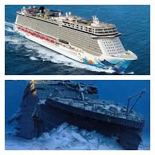 the titanic compared to a modern day cruise ship