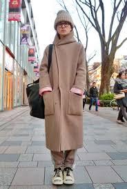 A Uniquely Shaped Big Coat Produces Cute Distinct Personal Style