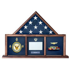 Walnut 3 X 5 Flag Memorial Case