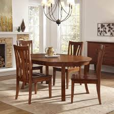 Chateau Dax Jackson Leather Sofa by A America Grant Park 5 Piece Oval Dining Set In Pecan