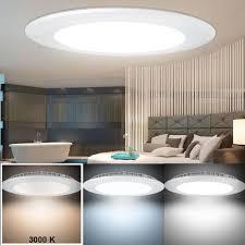 led 15 w decken panel einbau strahler esszimmer le küchen alu leuchte 3000 k v tac 4829