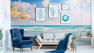 farbenfrohe und stilvolle fototapete für das wohnzimmer in