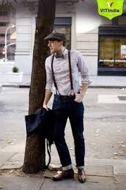 Buy Vintage Leather Braces Suspenders With Bow Tie And Cool Hat On Heavy Discount Prices