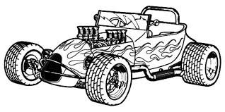 Hot Rod Classic Cars Coloring Pages Kids Play Color Pertaining To With
