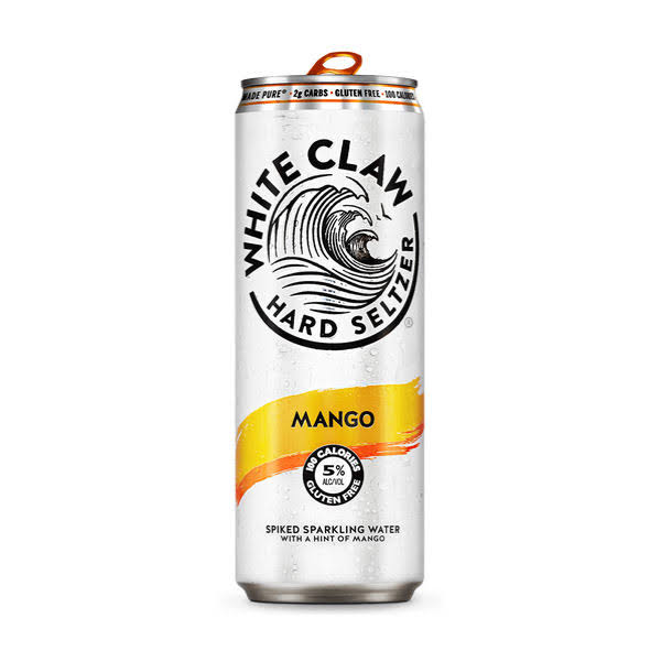 White Claw Beer, Hard Seltzer, Mango - 6 pack, 12 fl oz cans