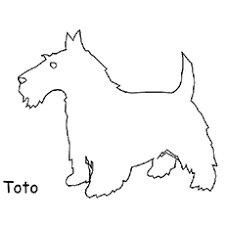 Toto Is Dog From Wizard Of OZ Wicked Witch The East Coloring Pages