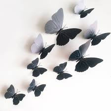12pcs lot 3D Butterfly Wall Stickers Wall Mural Home Decals