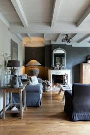 Accent Wall For Gray Room In The Dark Grey Light Blue Sofa