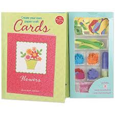 Klutz Create Your Own Paper Craft Cards Book Kit Flowers