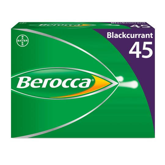 Berocca Effervescent Tablets - Blackcurrant, x45