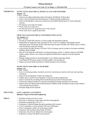 Download Entry Level Electrical Engineer Resume Sample As Image File